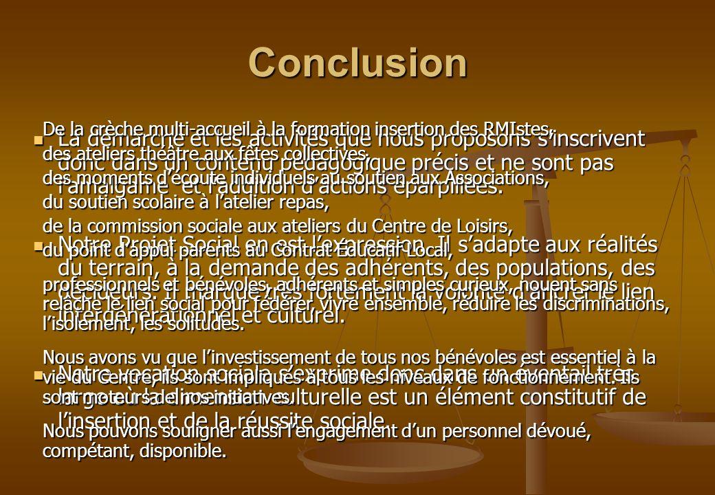 Conclusion La démarche et les activités que nous proposons sinscrivent donc dans un contenu pédagogique précis et ne sont pas lamalgame et laddition d