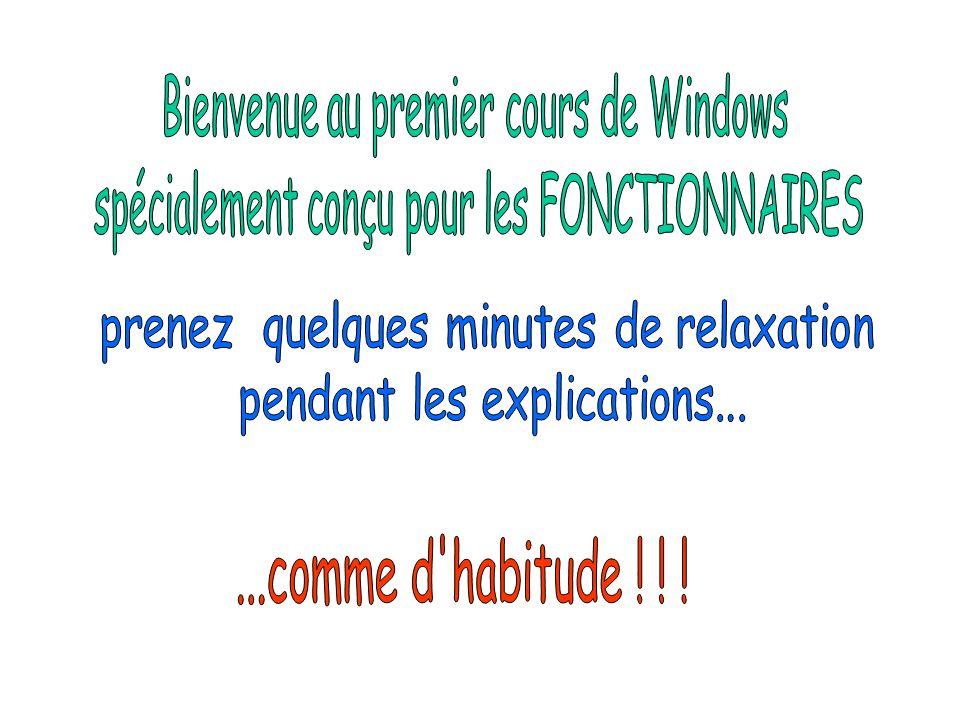 Ceci est le bureau de Windows.Il sert à accéder à toutes les opérations.