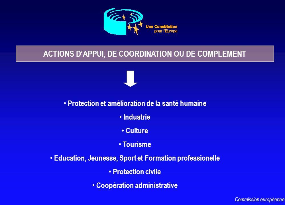 Protection et amélioration de la santé humaine Industrie Culture Tourisme Education, Jeunesse, Sport et Formation professionelle Protection civile Coo