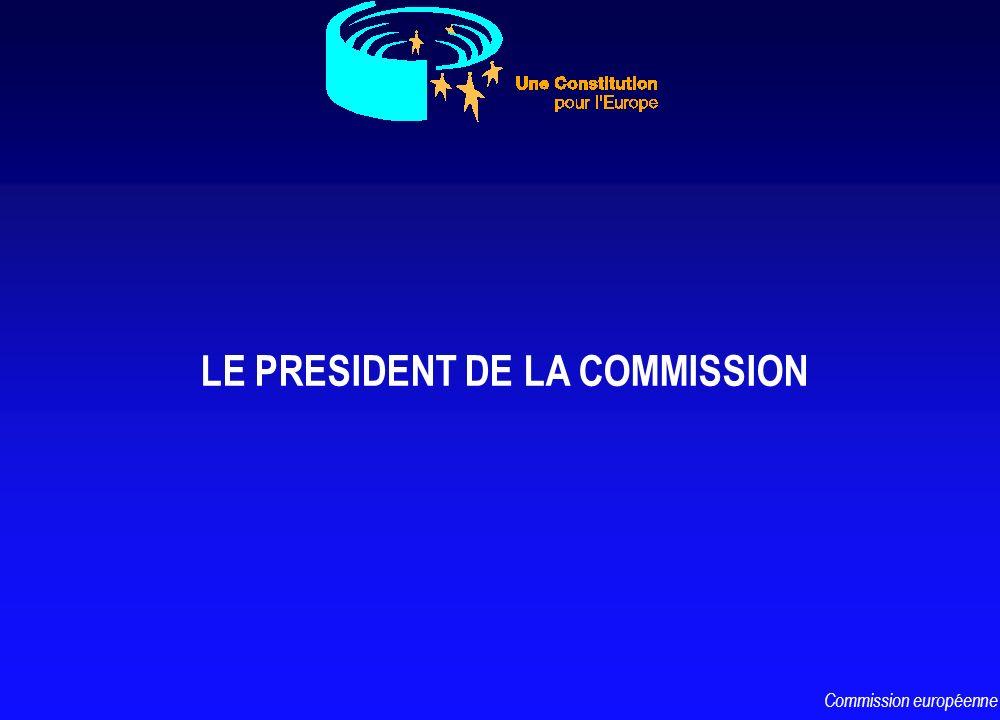 LE PRESIDENT DE LA COMMISSION Commission européenne