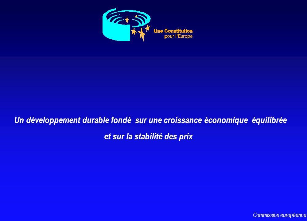 Un développement durable fondé sur une croissance économique équilibrée et sur la stabilité des prix Commission européenne