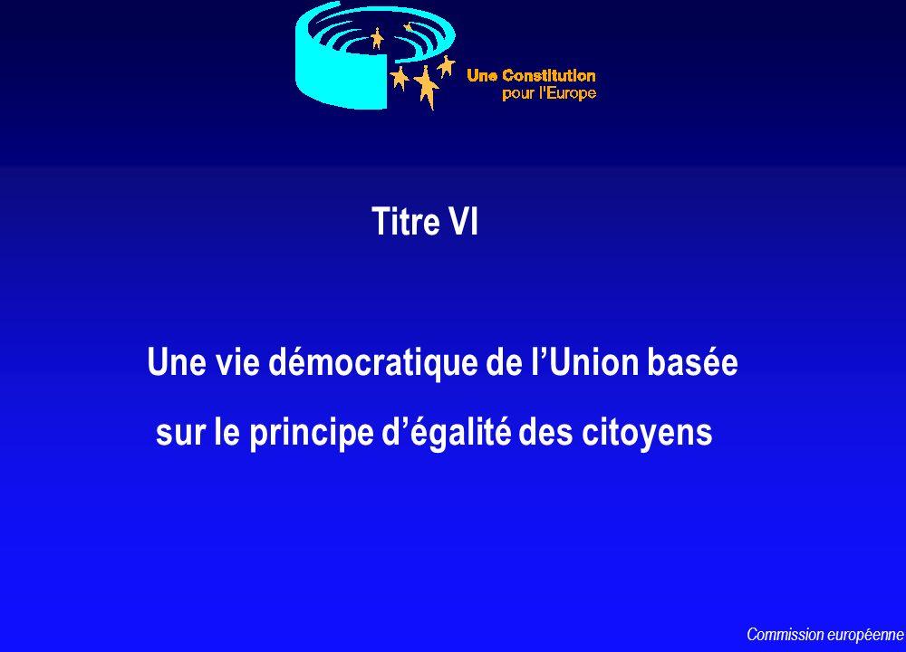 Titre VI Une vie démocratique de lUnion basée sur le principe dégalité des citoyens Commission européenne