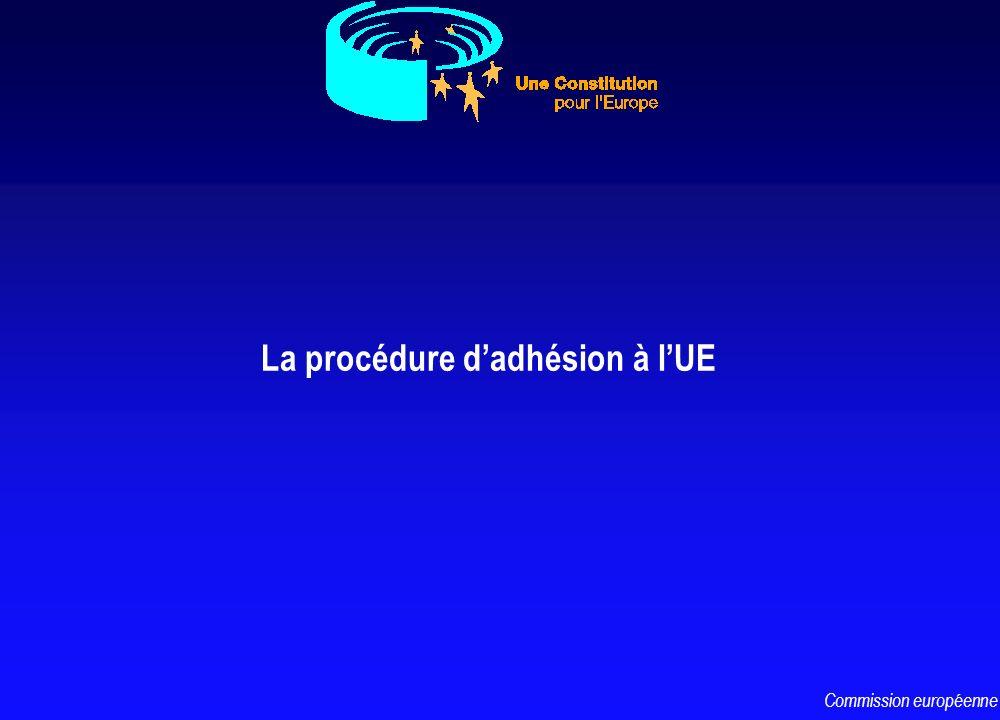 La procédure dadhésion à lUE Commission européenne