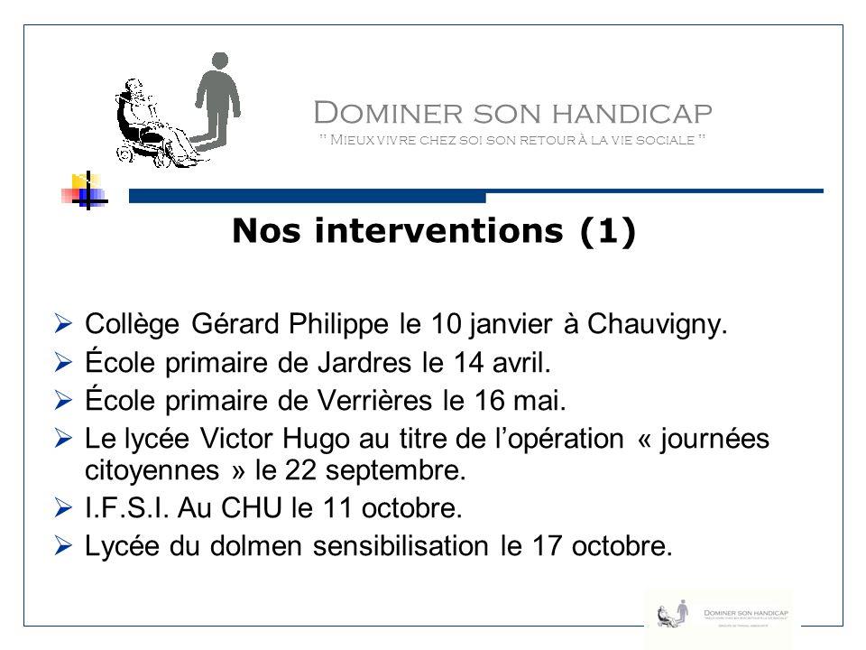 Dominer son handicap Mieux vivre chez soi son retour à la vie sociale Naissance du blog www.dominersonhandicap.blogspot.com