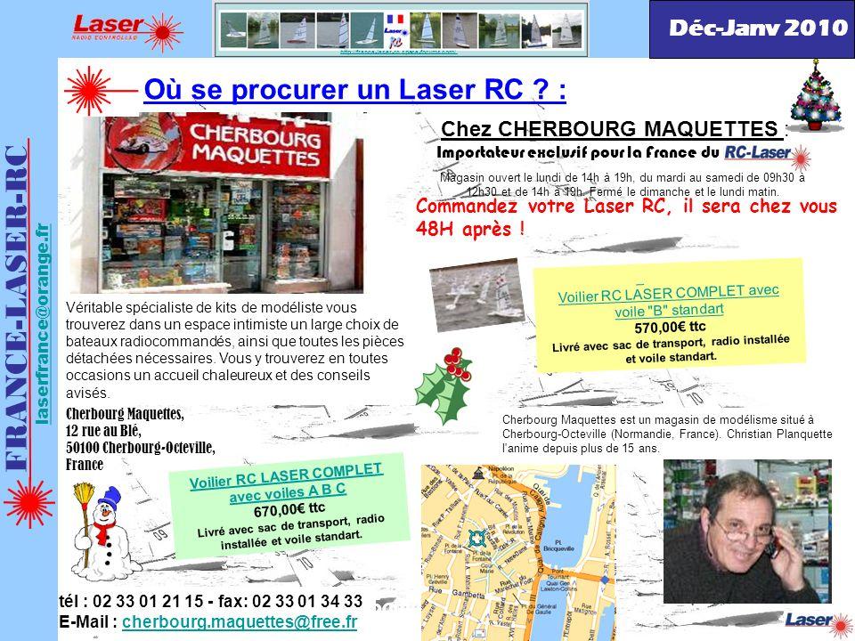 http://france-laser-rc.space-forums.com/ Magasin ouvert le lundi de 14h à 19h, du mardi au samedi de 09h30 à 12h30 et de 14h à 19h. Fermé le dimanche