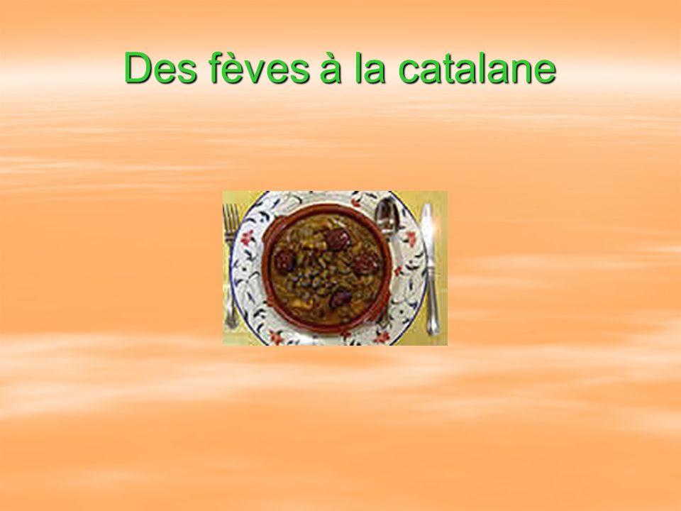 Des fèves à la catalane