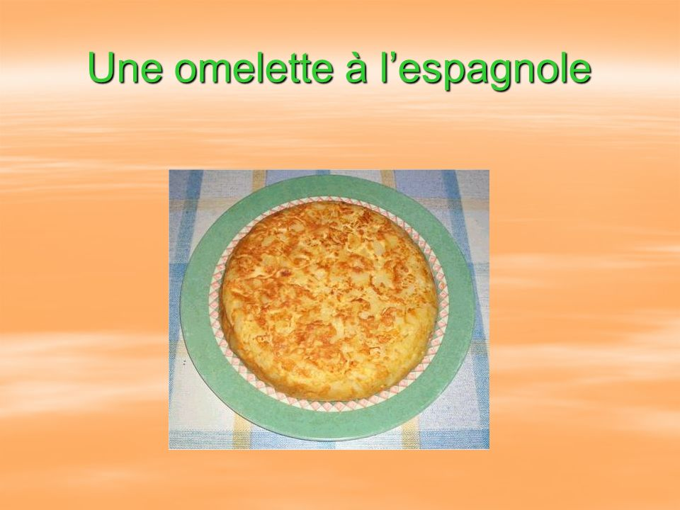 Une omelette à lespagnole