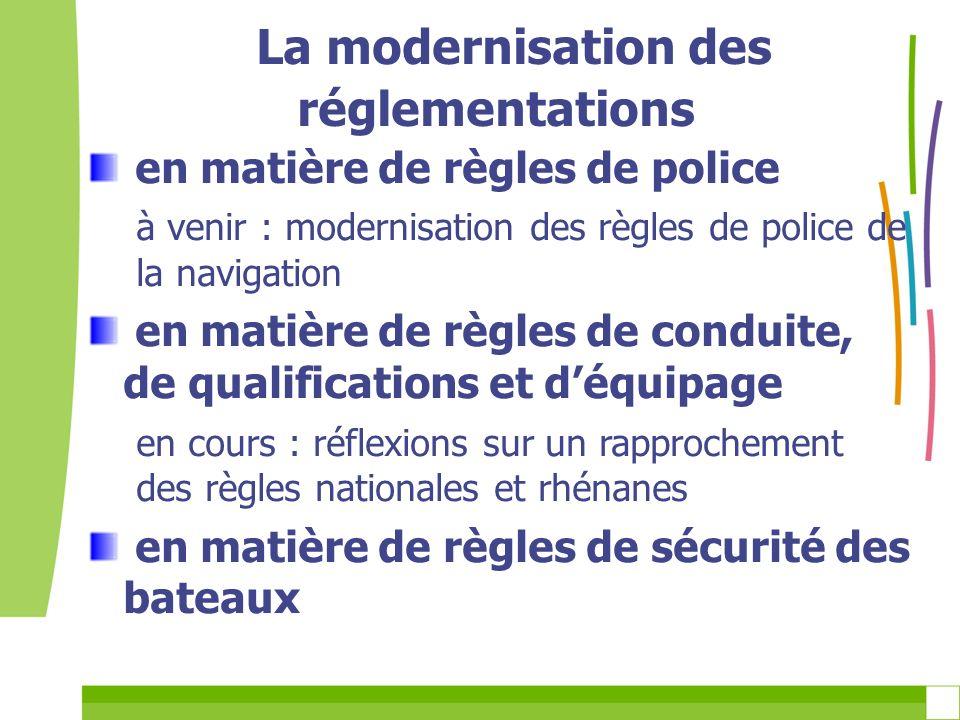 La modernisation des réglementations en matière de règles de police à venir : modernisation des règles de police de la navigation en matière de règles