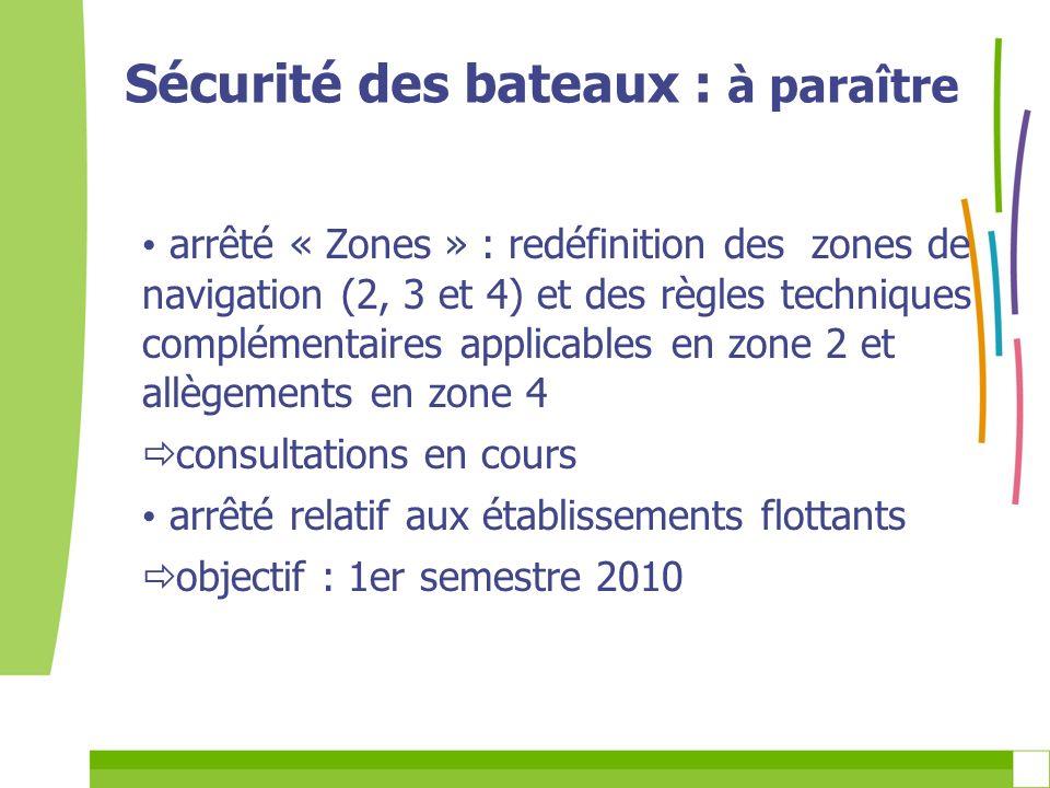 arrêté « Zones » : redéfinition des zones de navigation (2, 3 et 4) et des règles techniques complémentaires applicables en zone 2 et allègements en z