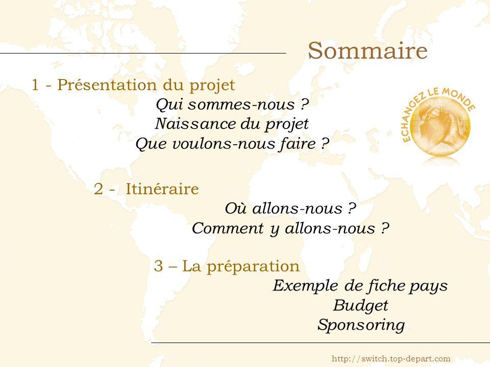 Sommaire 1 - Présentation du projet Qui sommes-nous .