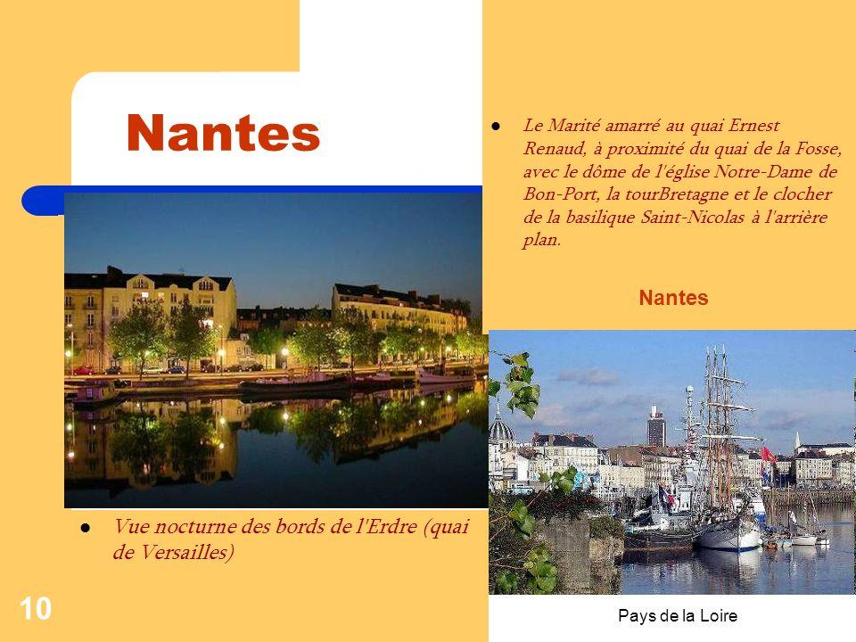 Pays de la Loire 9 Nantes La butte Sainte Anne L'Erdre et le quai Henri Barbusse