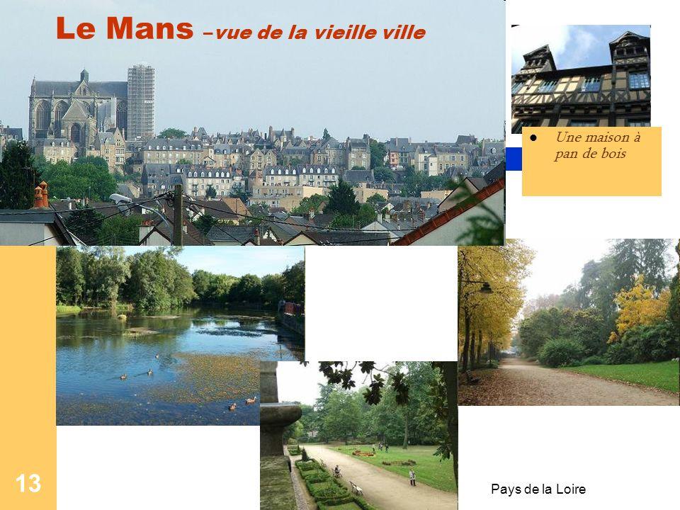 Pays de la Loire 12 Le Mans Le Mans est une ville de l'ouest de la France, située dans la région des Pays de la loire et dans le département de la Sar