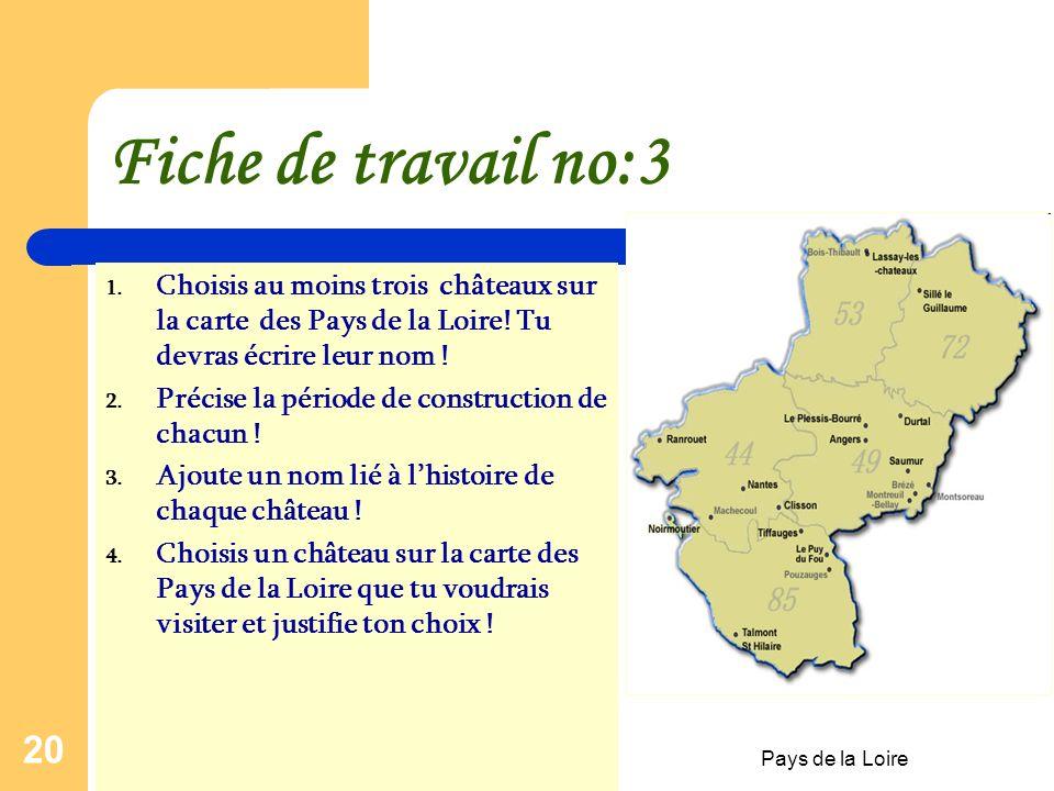 Pays de la Loire 19 Le Château de LASSAY-LES- CHÂTEAUX Construction :XVème siècle Historique: Au XIe siècle, Foulques Nerra, comte d'Anjou, crée un po