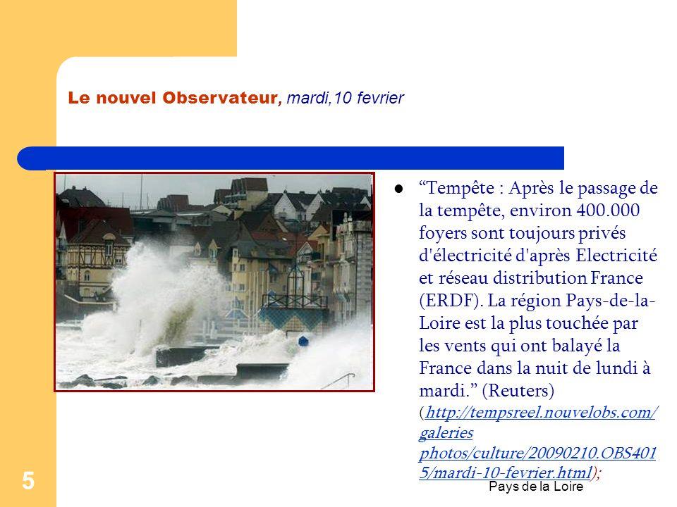 Pays de la Loire 4 Geographie Elle tire son nom de la Loire qui traverse deux de ses départements avant de se jeter dans l'océan Atlantique. Les derni