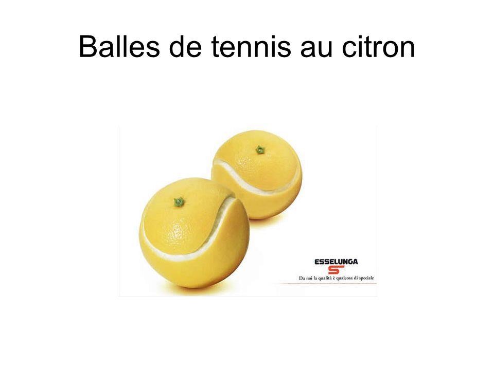Balles de tennis au citron