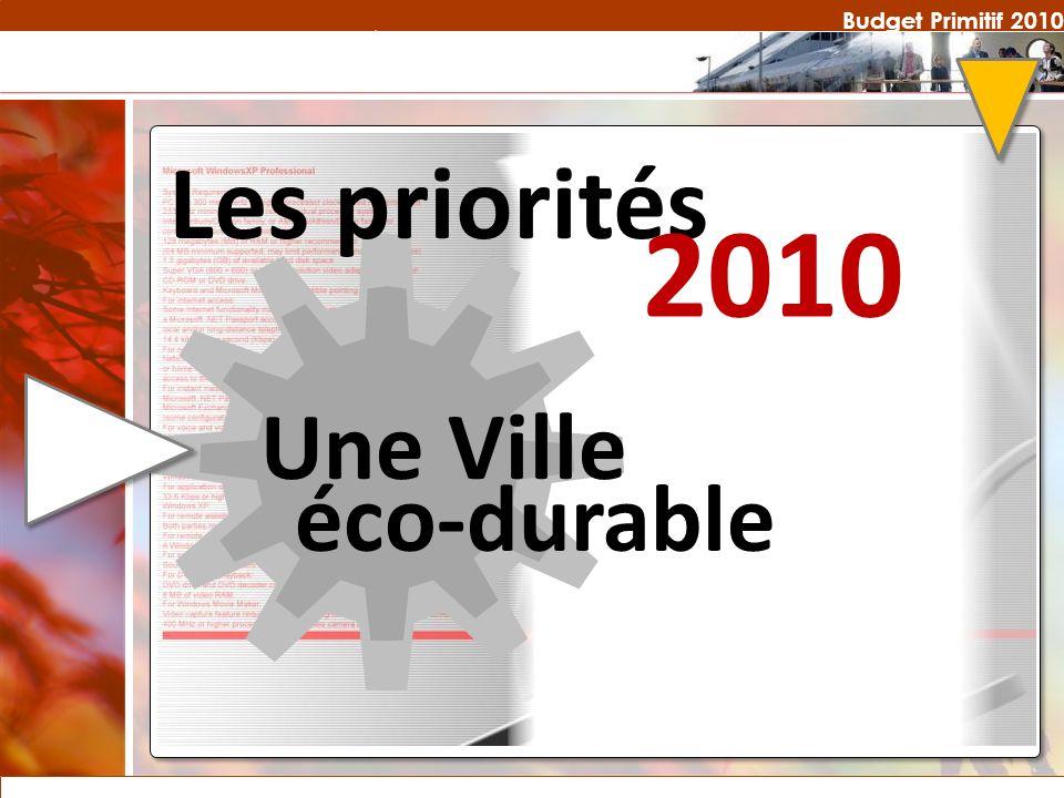 Budget Primitif 2010 Les priorités 2010 Une Ville éco-durable