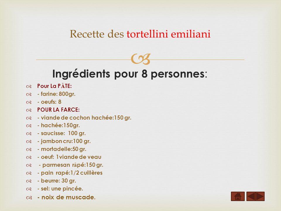 Pour La P Â TE: - farine: 800gr.- oeufs: 8 POUR LA FARCE: - viande de cochon hachée:150 gr.