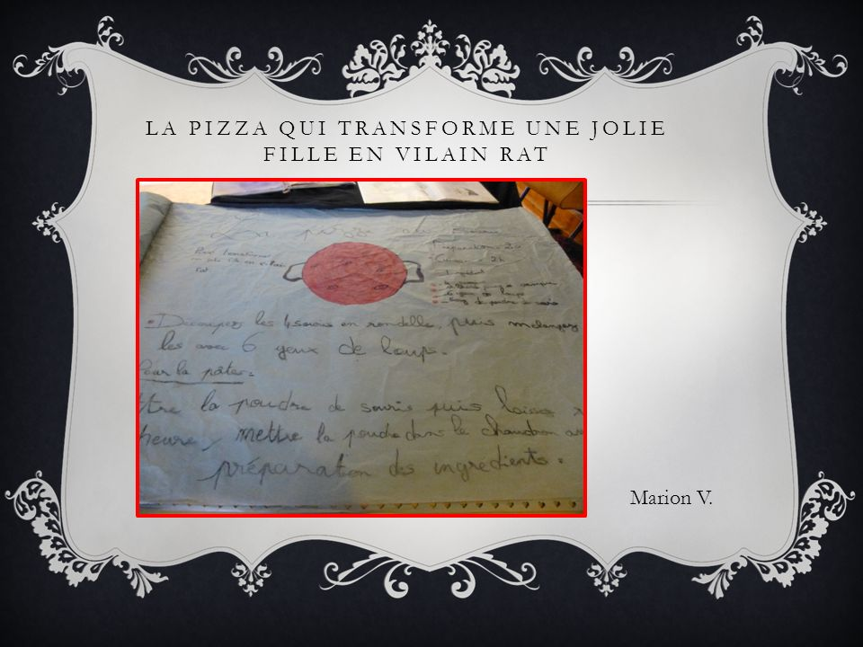 LA PIZZA QUI TRANSFORME UNE JOLIE FILLE EN VILAIN RAT Marion V.