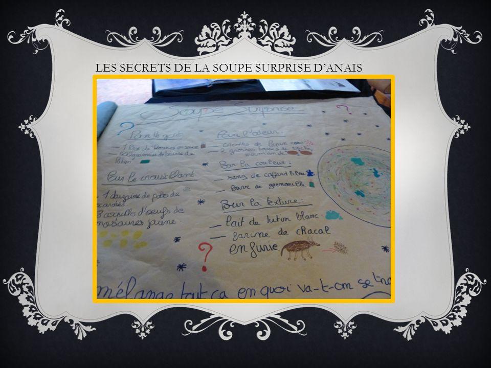 LES SECRETS DE LA SOUPE SURPRISE DANAIS