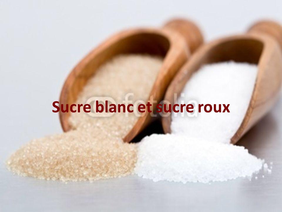 Sucre blanc et sucre roux