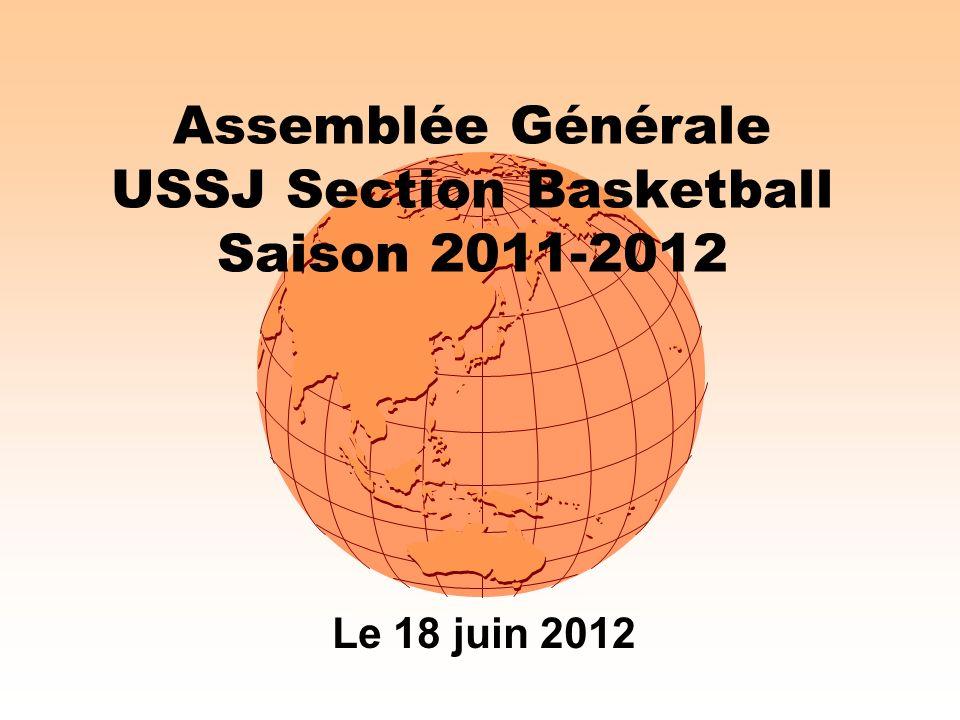 Assemblée Générale USSJ Section Basketball Saison 2011-2012 Le 18 juin 2012