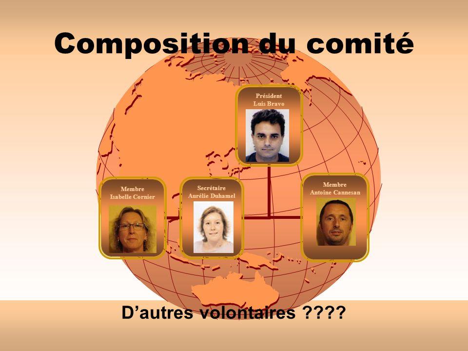 Composition du comité Dautres volontaires ????