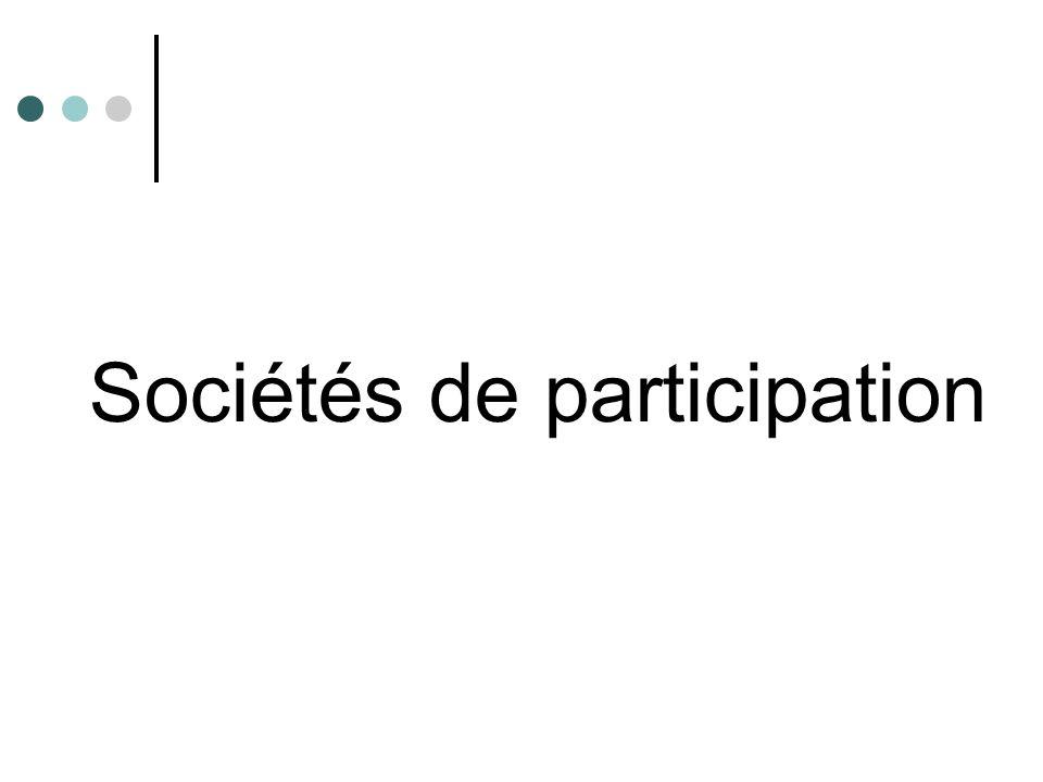 Sociétés de participation