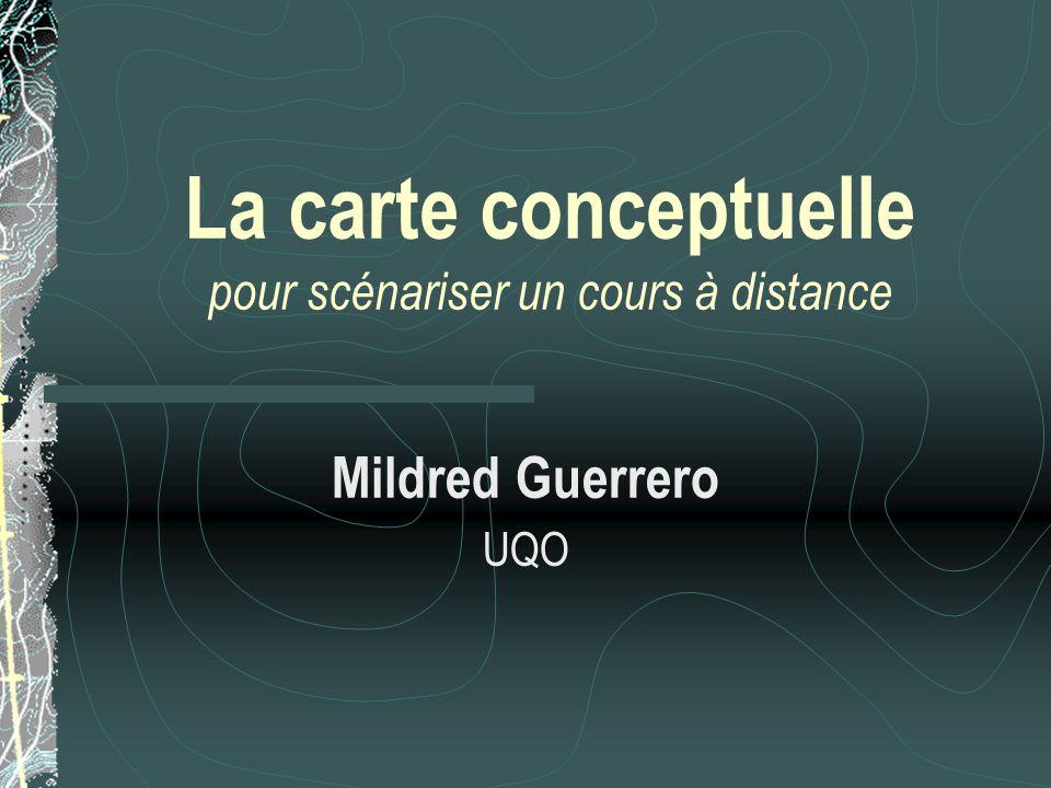 La carte conceptuelle pour scénariser un cours à distance Mildred Guerrero UQO