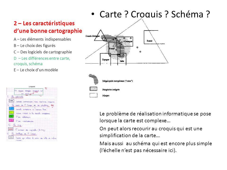2 – Les caractéristiques dune bonne cartographie Le logiciel de cartographie Il existe des logiciels de cartographie (ici par ex.