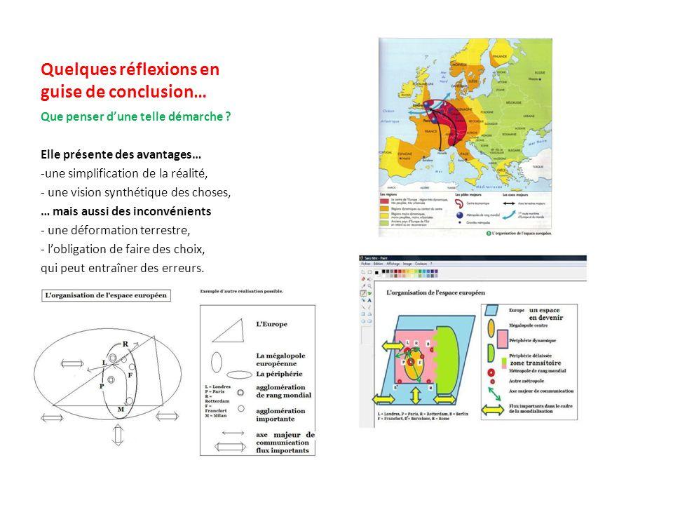 3 – La démarche pour un modèle sur lorganisation de lespace européen Commenter le modèle Lespace européen est organisé selon le modèle spatial « centre/périphérie » avec une mégalopole dynamique qui polarise le reste du sous-continent dans le cadre de la mondialisation.