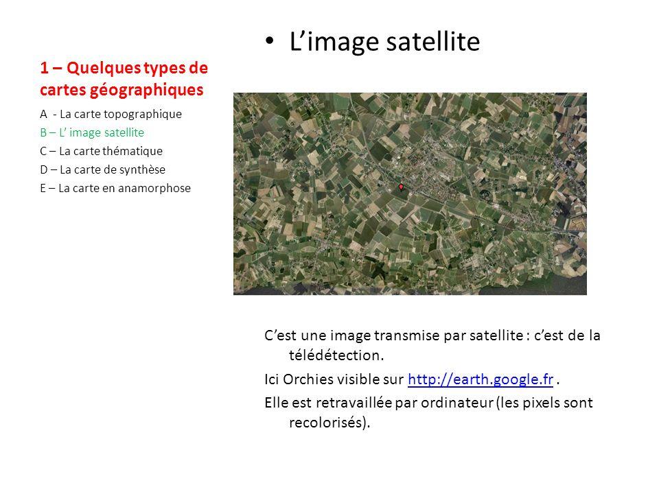 1 – Quelques types de cartes géographiques La carte topographique Du grec « topos » (lieu) et « graphein » (décrire).