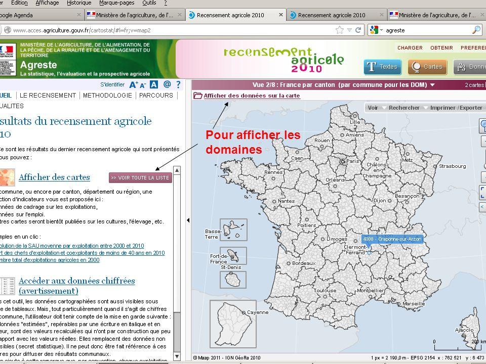 septembre 2012 Pour enregistrer les informations obtenues (format Excel ou PDF)