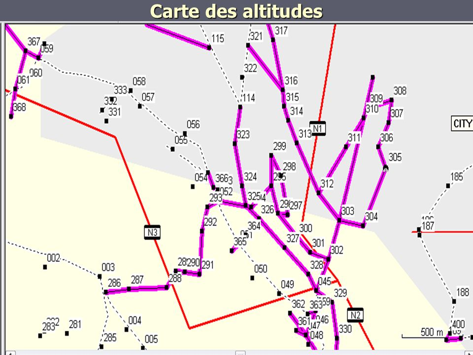 Carte des altitudes