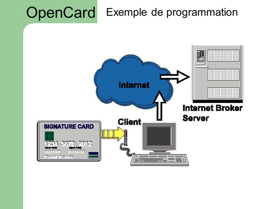 Exemple de programmation OpenCard