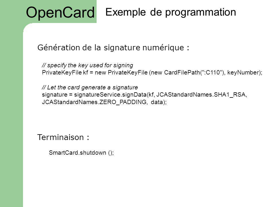 // specify the key used for signing PrivateKeyFile kf = new PrivateKeyFile (new CardFilePath(