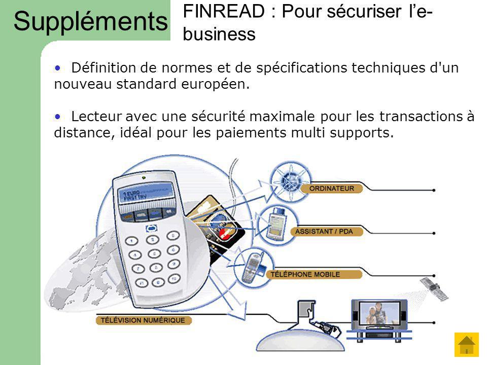 FINREAD : Pour sécuriser le- business Définition de normes et de spécifications techniques d'un nouveau standard européen. Lecteur avec une sécurité m