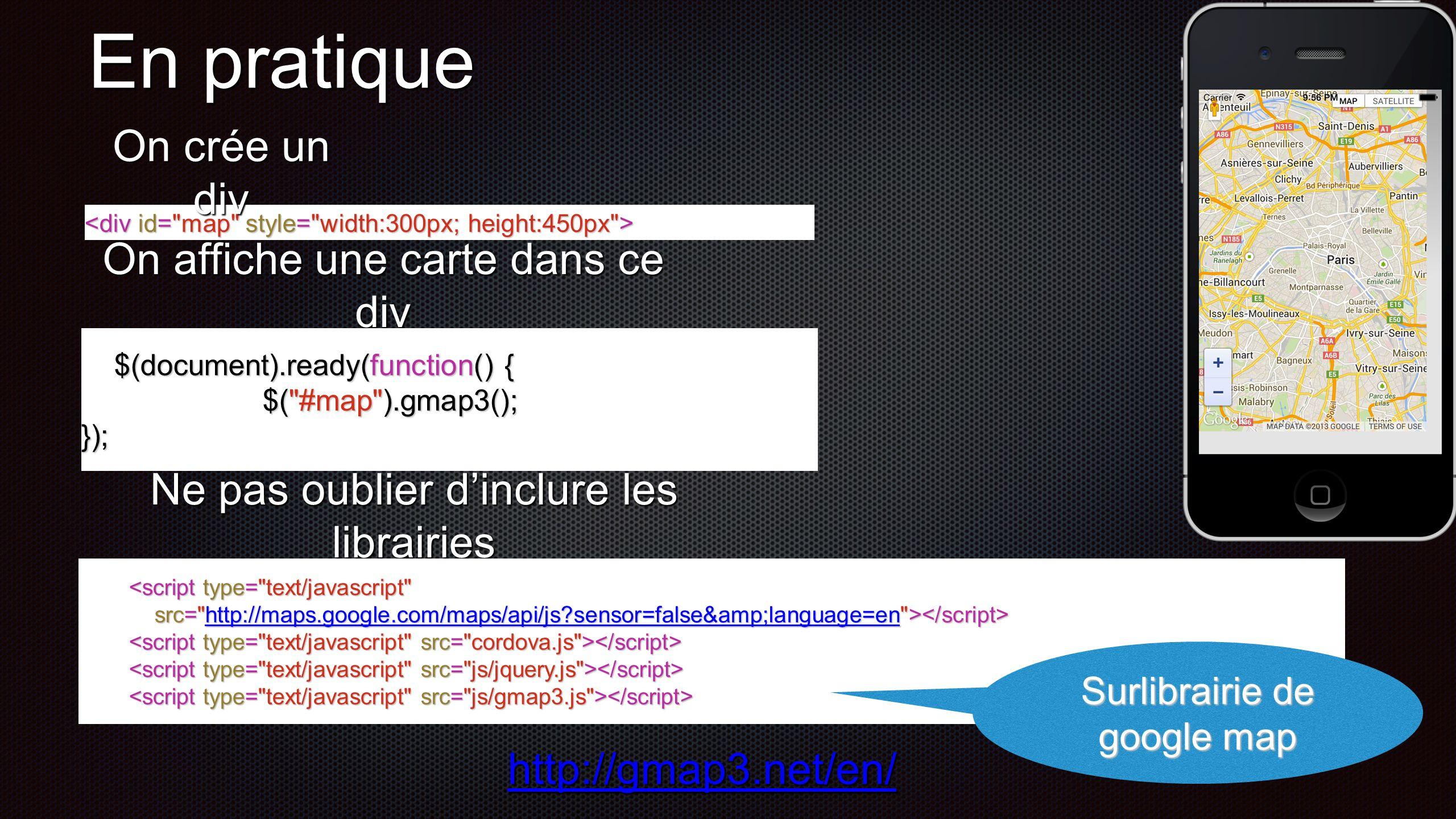 Centrage sur la France (45,0) $( #map ).gmap3({ map:{ map:{ options:{ options:{ center: [45, 0], center: [45, 0], zoom: 12 zoom: 12 } }}); }});