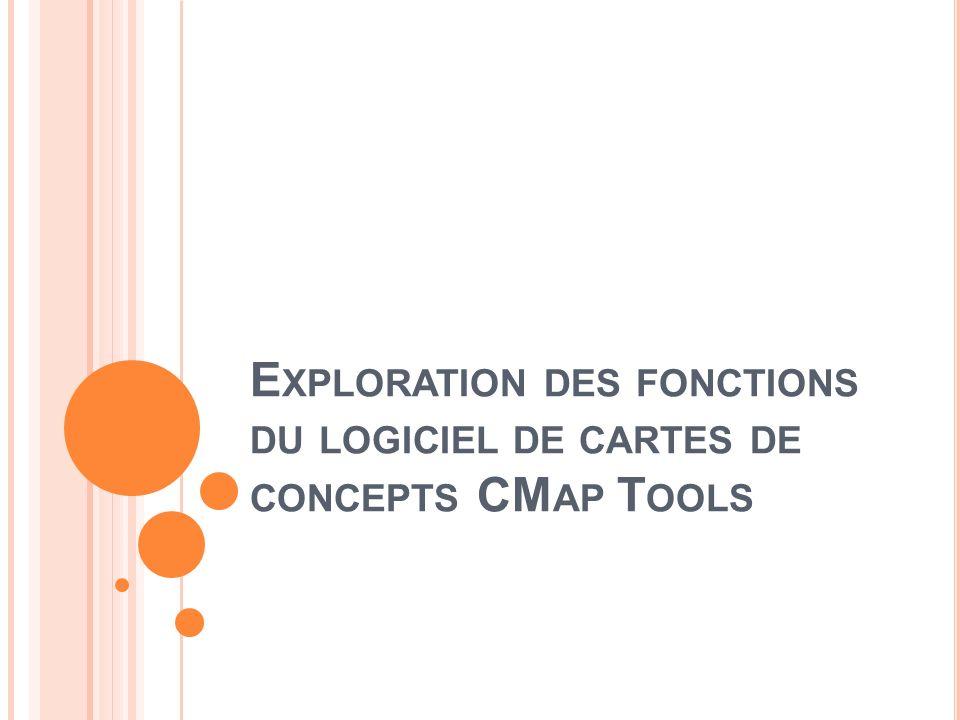 E XPLORATION DES FONCTIONS DU LOGICIEL DE CARTES DE CONCEPTS CM AP T OOLS