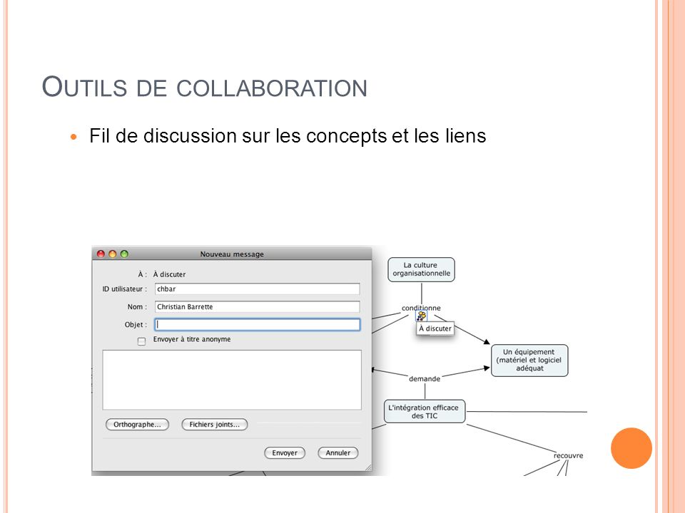O UTILS DE COLLABORATION Fil de discussion sur les concepts et les liens