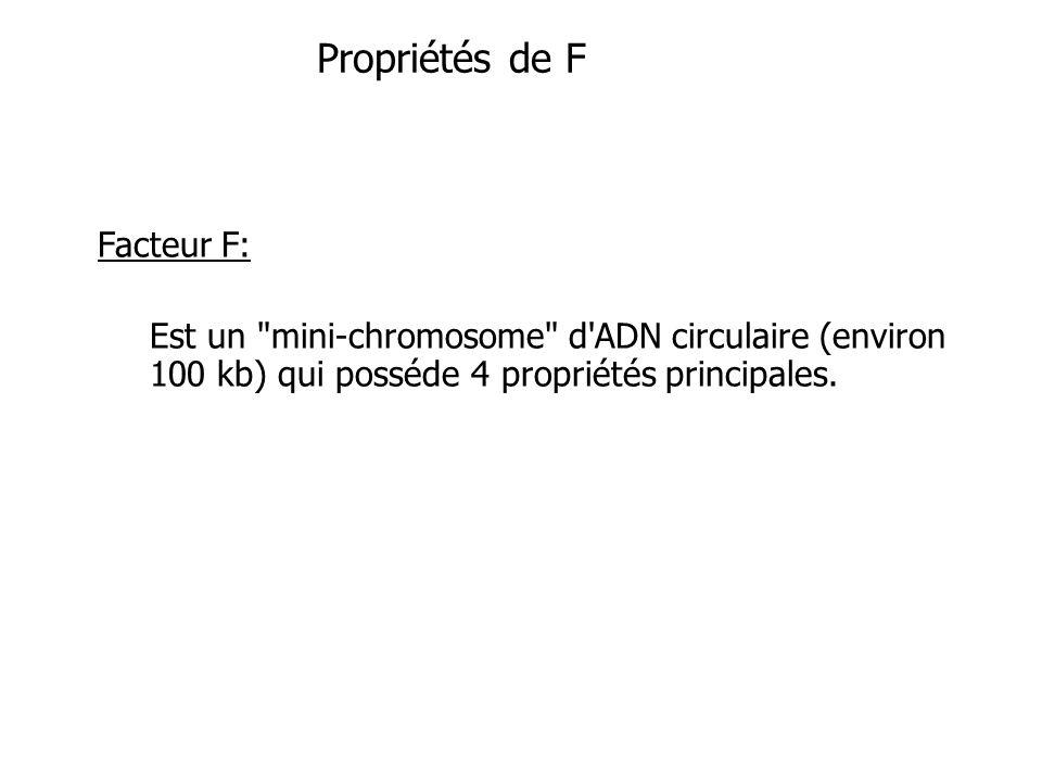 Propriétés de F Facteur F: Est un