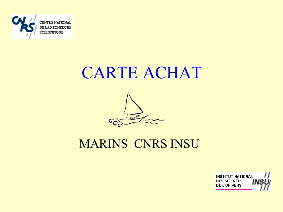 A REMPLIR ET A CONSERVER EN LIEU SÛR Votre numéro Carte achat : _____________________ Date dexpiration : _________________ Votre responsable de programme Carte achat Armement CNRS INSU - Tel.
