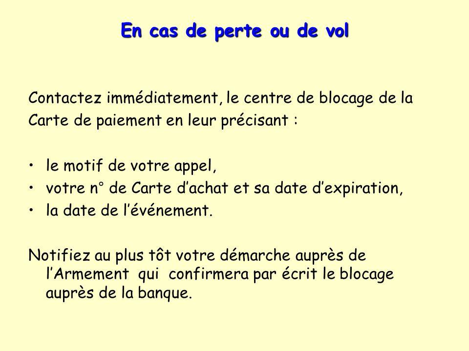 Numéros utiles à conserver : Votre responsable de programme Carte achat Armement CNRS INSU - Tel.