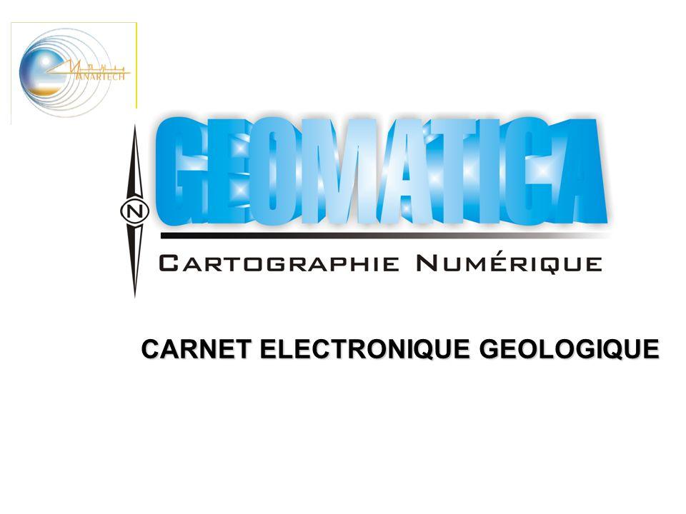 CARNET ELECTRONIQUE GEOLOGIQUE