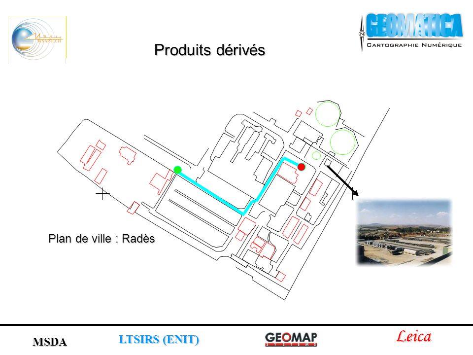 Leica LTSIRS (ENIT) MSDA Produits dérivés Plan de ville : Radès
