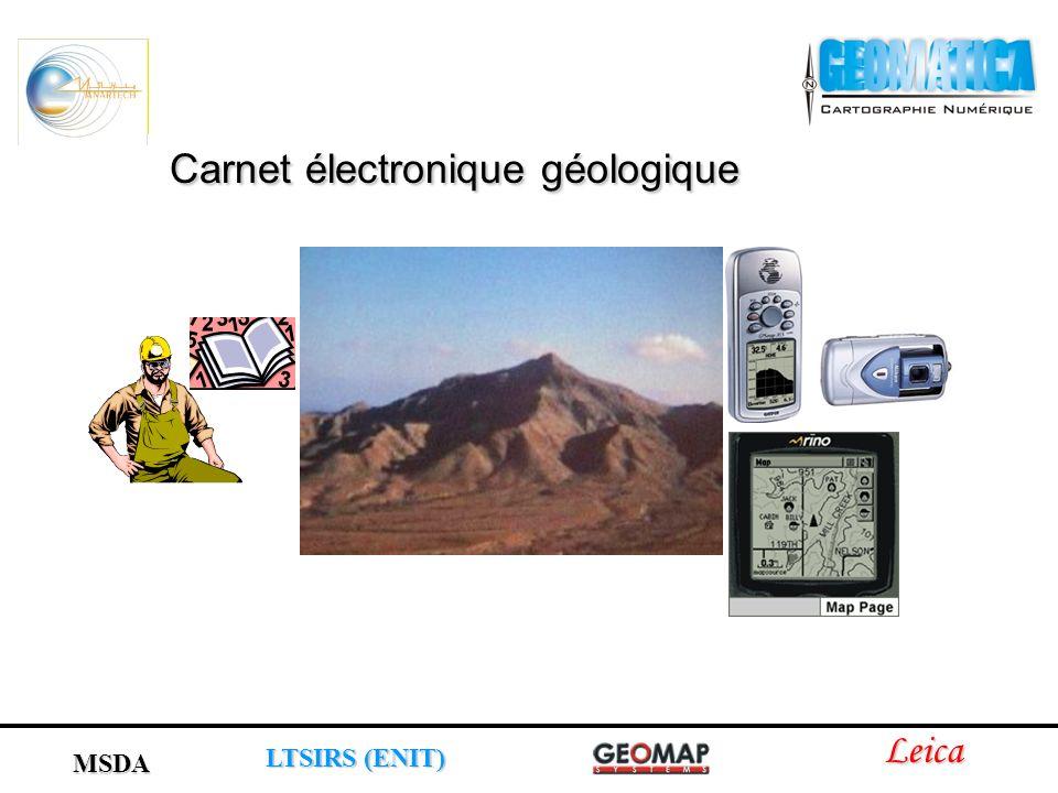 Leica LTSIRS (ENIT) MSDA Carnet électronique géologique