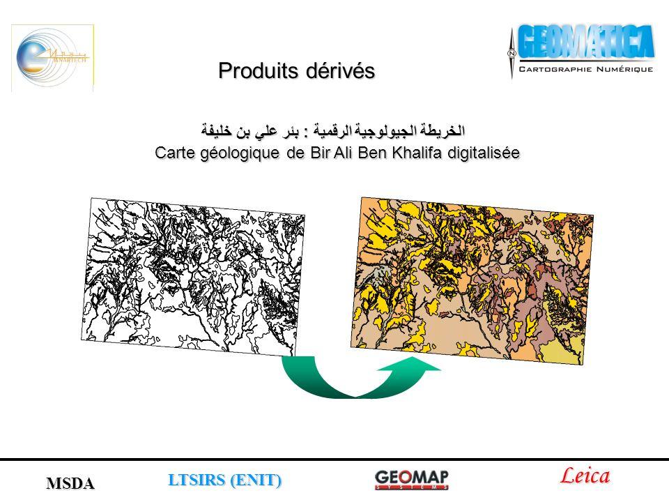 الخريطة الجيولوجية الرقمية : بئر علي بن خليفة Carte géologique de Bir Ali Ben Khalifa digitalisée Leica LTSIRS (ENIT) MSDA Produits dérivés