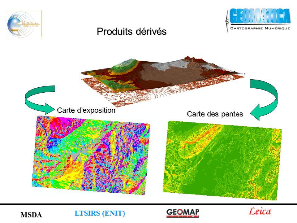 Carte dexposition Carte des pentes Leica LTSIRS (ENIT) MSDA Produits dérivés