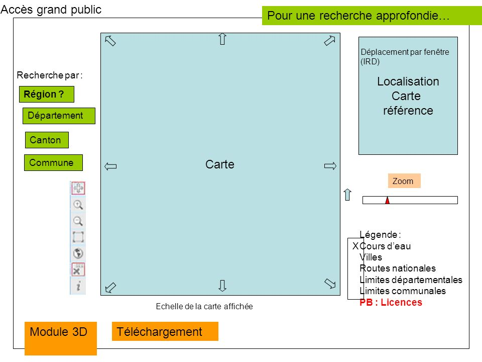 Avec 2 options Description des UCS UCS 1 : Plaine alluviale … UTS1 : UTS 2 : UCS 2 : … Export Carte UCS 1 UTS1 ….