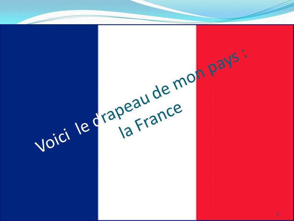 2 Voici le drapeau de mon pays : la France