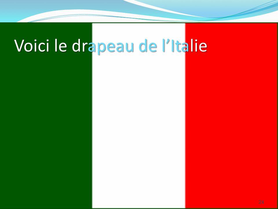 Voici le drapeau de lItalie 24